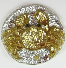Load image into Gallery viewer, Zodiac Symbol Cancer the Crab, Sequin Beaded  3.5""