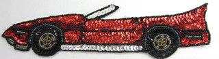 "Car Sports with Red and Black Sequins 2.25"" x 95"""
