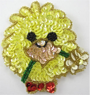 "Chicklet with Bow and Flower 3.5"" X 3"""