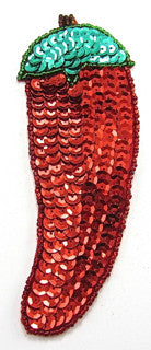 "Chilli Pepper Sequins and Beads 5.5"" x 2"""