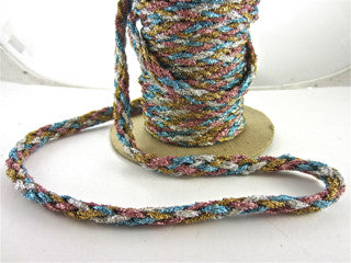 Trim Cording MultiColored Tinsel Sold by the Yard