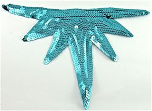 "Design Motif with Turquoise Sequins 10"" x 6.5"""