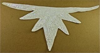 "Design Motif with White Sequins 14"" x 6"""