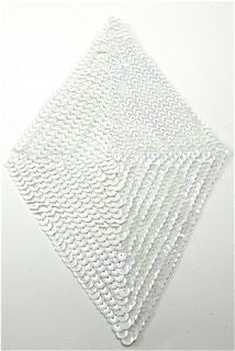 "Design Motif Diamond with White Sequins 9.5"" x 5"""