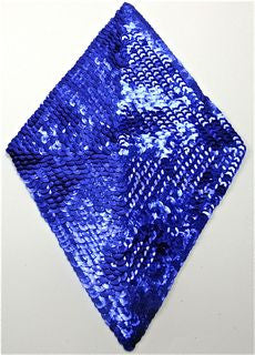"Designer Motif  Diamond with Blue Sequins 9.5"" x 5.5"""