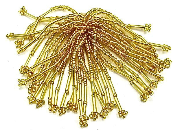 "Epaulet with Gold Beads 2.5"" x 2.5"""