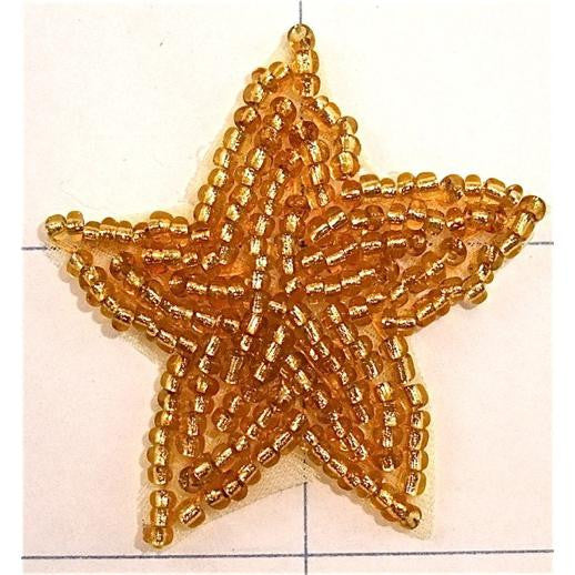 Star with Gold Beads 1 7/8""