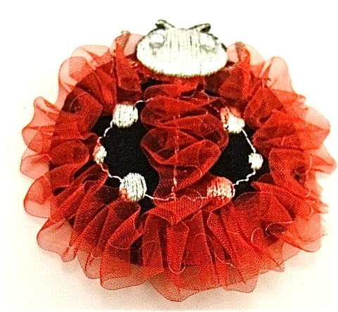 Beetle Red Organza Iron-on 2.5""