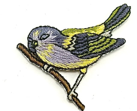 "Bird Embridered Iron-on 2"" x 1.5"""