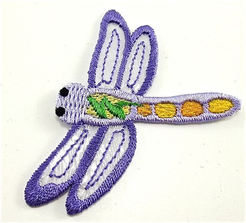 "Firefly Purple Embroidered Iron-On  2"" x 2.5"""