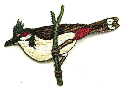 "Bird Iron-on Embroidered 3"" x 1.5"""