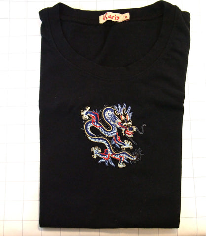 T-shirt Black with Embellishment Dragon Teen Size Medium