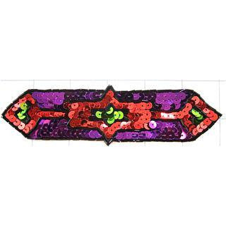 South Western Chinook Motif with Colorful Sequins 6' x 1.5""
