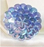 6 PACK Circle and Dot Lite Blue with NO Beads 1.25""