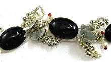 Load image into Gallery viewer, Trim Black Silver and White Beads 1""