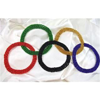 "Olympic Rings with MultiColored Beads 8.5"" x 4"""