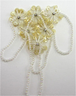 Epualet Flower Cluster with Beads