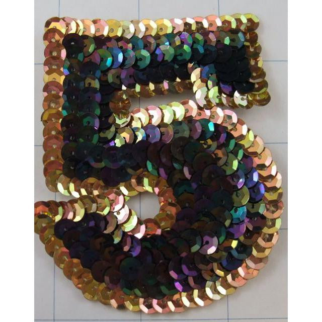 Number Five   Moonlite and Gold 5""