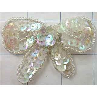 "Iridescent Sequin Bow, 2.5"" x 1.5"""