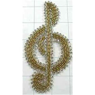 DSCF TREBLE CLEF SEQUINS AND BEADS 5""