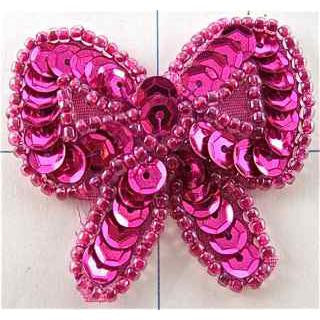 Bow  with Fuchsia 1.5""