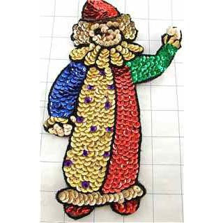 "Clown Multi-Colored 9"" x 5"""