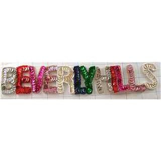 "Word Beverly Hills Multi-Colored with Beads 3"" x 10"""