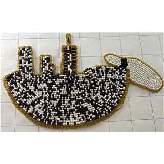 "Bowling Applique Beaded  8"" x 4"""