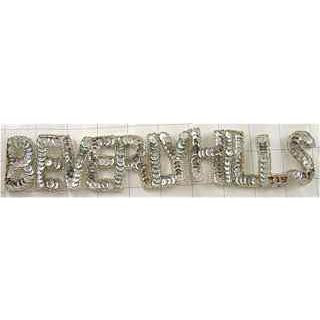 "Beverly Hills word in Silver 11"" x 2"""