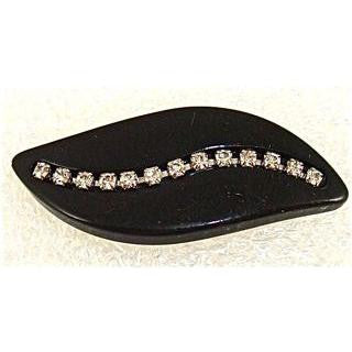 Button Wave Shape with 13 Rhinestones