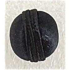 Button Black Satin Bell 1/2""