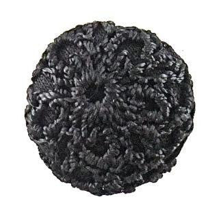 Button Embroidered Black 1""