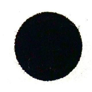 Button Black Velvet .75""