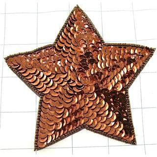 Star with Bronze Sequins and Beads 4.5""""