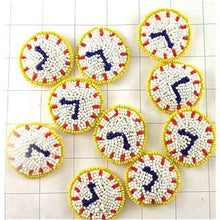 "Load image into Gallery viewer, 10 PACK Clock set of Beaded Clocks  1.5"" - Sequinappliques.com"