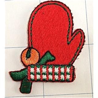 "Xmas Santa Glove Embroidered 1"" x 1"""