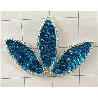 THREE LEAF WITH SEQUINS AND BEADS