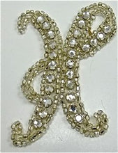 "Load image into Gallery viewer, Letter H Rhinestone 3"" x 2"""