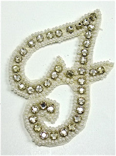 Letter F with Rhinestones 2.5
