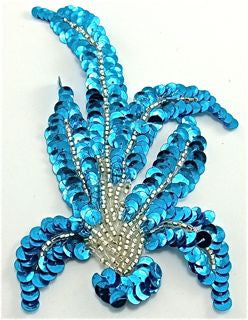Turquois Leaf pair with silver beads