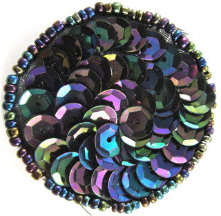 6 PACK Circle Dot with Moonlite Sequins and Beads 1.5""