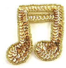 "Load image into Gallery viewer, Double Note Gold Beads and Sequins 2.5""  x 2.5"""