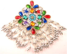 Load image into Gallery viewer, Epaulet with Silver Beads and Gems