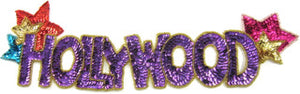 "Hollywood Sign MultiColored Sequins and Beads 4"" x 13"""