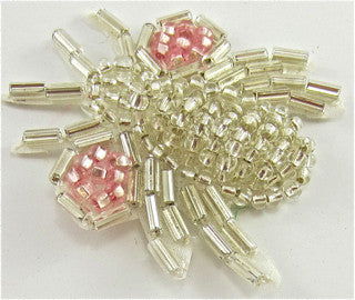 Fly with Pink Beads and Silver Beads 1.5""