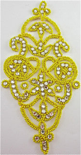 "Designer Motif with 90 High Quality Rhinestones 7.5"" x 4"""