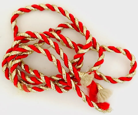 "Trim for Christmas Gold and Red 3 pcs 21"" approx length"