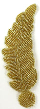 "Load image into Gallery viewer, Leaf Gold Beads 7"" x 2"""