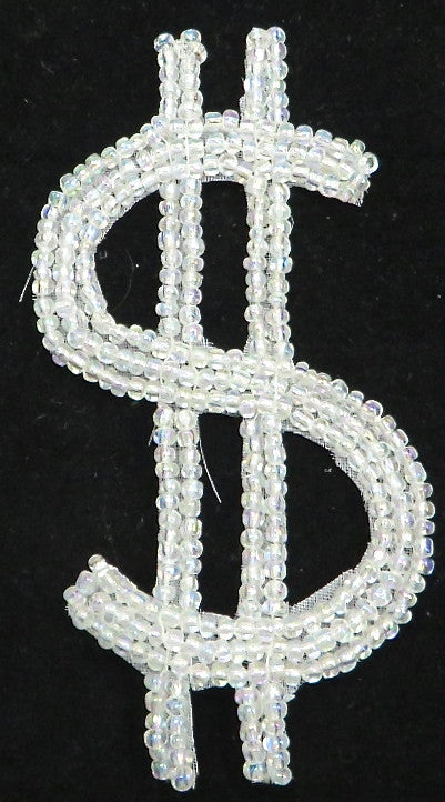 $Sign with Iridescent Beads 4