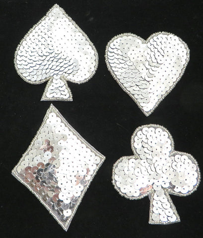 Card Set, Heart, Diamond, Spade, Club, 3.5""